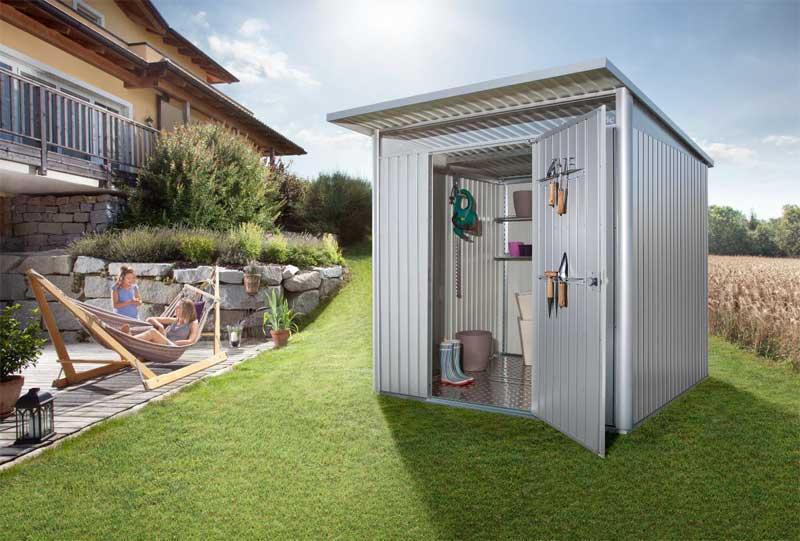 Novità giardino: casette e contenitori porta tutto in metallo