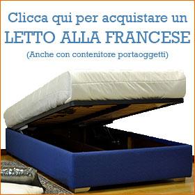 Acquista Letto alla francese con contenitore interno