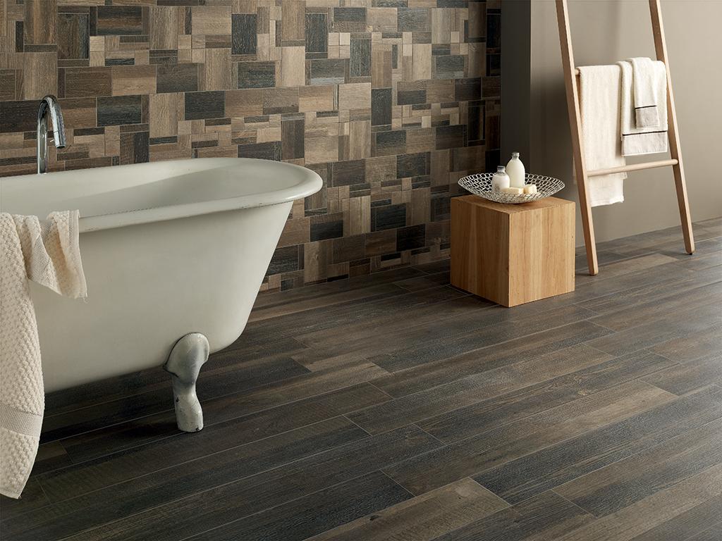 Legno in bagno gres un sostituto alla moda for Piastrelle ceramica finto legno