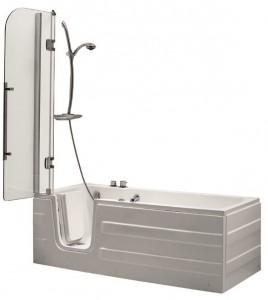 Vasca da bagno con sportello per facilitare ingresso e uscita a persone con difficoltà motorie