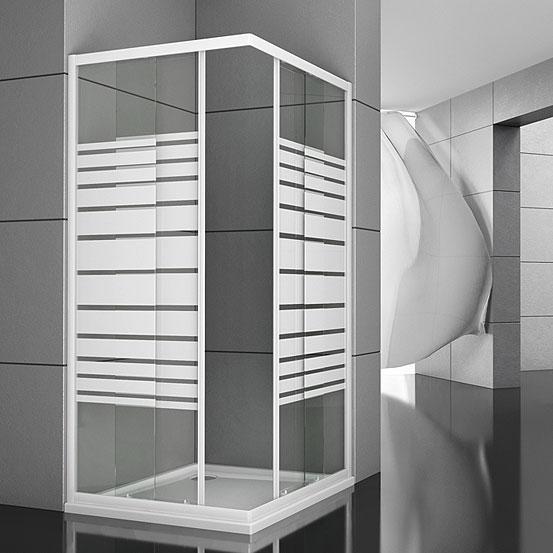 I box doccia in un bagno moderno