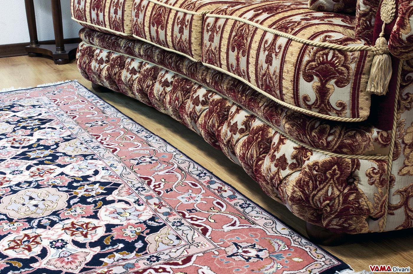 Divano damascato idea intrigante per un arredo lussuoso - Divano tessuto damascato ...
