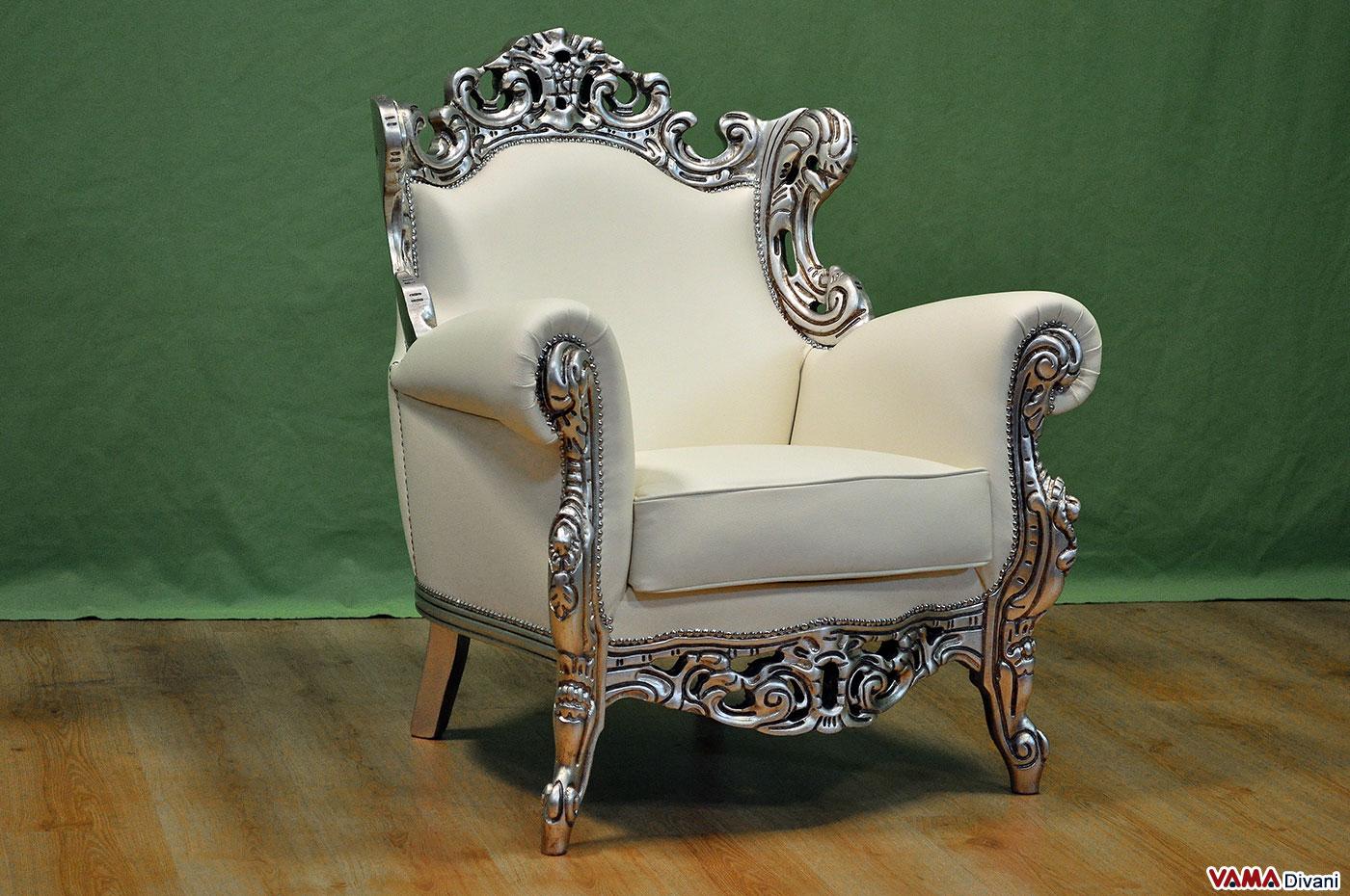 Poltrona Barocco: scelta di lusso per interni eleganti