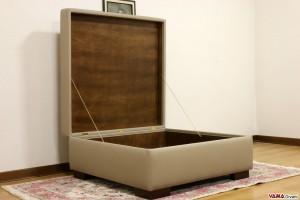 Il vano interno del pouf 100x100 cm