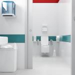 Bagno con accessori per toilette